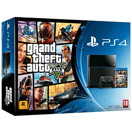 PlayStation 4 with Grand Theft Auto V PlayStation-4
