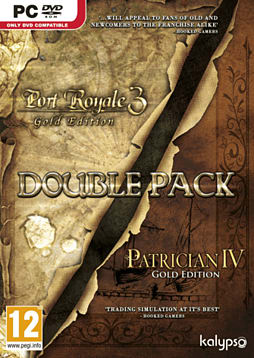 Patrician IV Gold & Port Royale 3 Gold Double Pack PC Games Cover Art