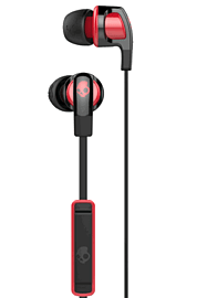 SkullCandy Smokin' Buds 2.0 With In-Line Mic - Black/Red Electronics