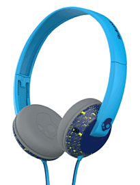 SkullCandy Uprock Over-Ear Headphones - Navy/Lime Electronics