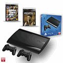 PS3 500GB with Uncharted 3 GOTY, Official Sony Dualshock Controller and Grand Theft Auto V PlayStation-3