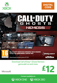 Call Of Duty Ghosts: Nemesis Xbox Live Cover Art