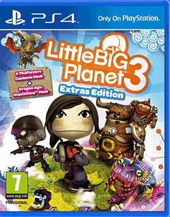 LittleBigPlanet 3: Extras Edition - Only at GAME PlayStation 4 Cover Art