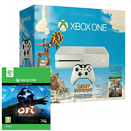 White Xbox One Console with Sunset Overdrive & Ori and the Blind Forest Xbox-One