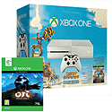 White Xbox One Console with Sunset Overdrive and Forza 5 GOTY download Xbox-One