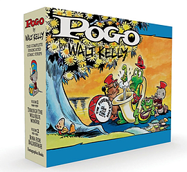 Pogo - The Complete Syndicated Comic Strips Vol. 1-2 Box Set (Walt Kelly's Pogo) (Hardcover) Books