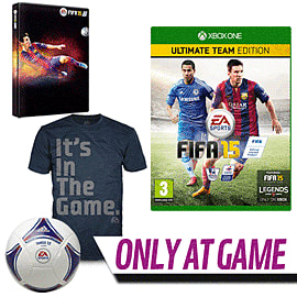 FIFA 15 Ultimate Team Edition with Pre-order Pack - Only at GAME Xbox One Cover Art