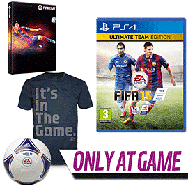 FIFA 15 Ultimate Team Edition with Pre-order Pack - Only at GAME PlayStation 4 Cover Art