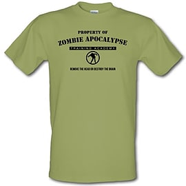 zombie apocalypse training academy male t-shirt. KhaMedi Clothing
