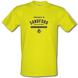 Property Of Sandford Police Authority male t-shirt. YelXXLa Clothing