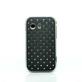 DIA® Black Diamante Chrome effect hard case Cover for Samsung Galaxy Y S5360 Mobile phones