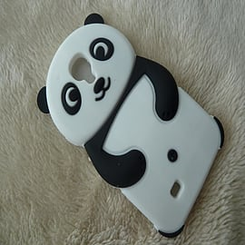 Black Cute Panda Soft Silicone back Skin case Cover For Samsung Galaxy S4 i9500 Mobile phones