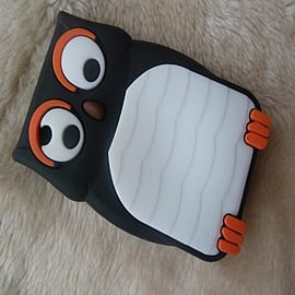 DIA Black Owl silicone case Cover for Blackberry Curve 8520 8530 9300 Mobile phones