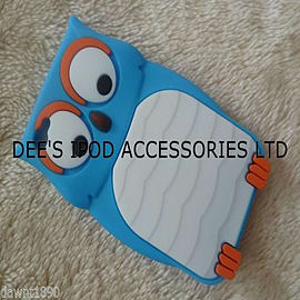 DIA Blue Owl silicone case Cover for iPhone 4 4g 4s Mobile phones