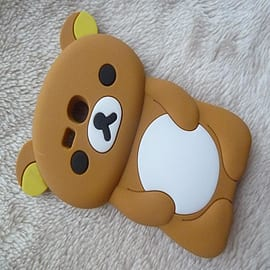 DIA Brown Cute Bear Silicone Case Cover to fit Samsung Galaxy S3 Mini i8190 Mobile phones