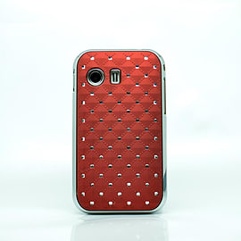 DIA® Red Burgundy Diamante Chrome effect hard case Cover for Samsung Galaxy Y S5360 Mobile phones