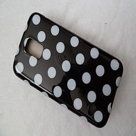 DIA BLACK TPU GEL DOTS CASE COVER FOR SAMSUNG GALAXY S5 G900H Mobile phones