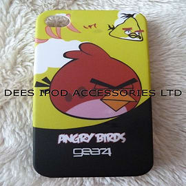 BLACK YELLOW ANGRY BIRDS HARD CASE COVER FOR IPHONE 4 4G 4S Mobile phones