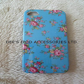 DIA® BLUE FLOWERS HARD CASE TO FIT IPHONE 4 4G 4S Mobile phones