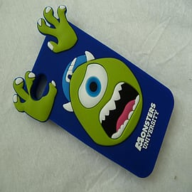 DIA ROYAL BLUE MONSTERS INC MIKE SILICONE CASE COVER FOR IPHONE 4 4G 4S Mobile phones