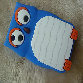 DIA Dark Blue Owl silicone case Cover for Blackberry Curve 8520 8530 9300 Mobile phones
