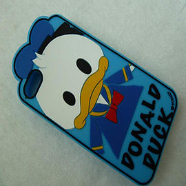 DIA CARTOON DONALD DUCK SILICONE CASE COVER FOR IPHONE 4 4G 4S Mobile phones