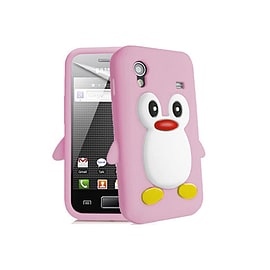 Samsung Galaxy Ace S5830 Penguin Style Silicone Skin Case / Cover / Shell - Pink Mobile phones