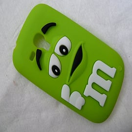 DIA GREEN M & M CHOCOLATE BEAN SILICONE CASE COVER FOR SAMSUNG GALAXY S3 MINI I8190 Mobile phones