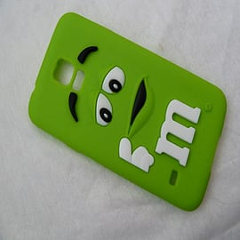 DIA GREEN M & M CHOCOLATE BEAN SILICONE CASE COVER FOR SAMSUNG GALAXY S5 G900H Mobile phones