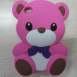 DIA® Hot Pink Silicone Teddy Bear for iPod Touch 4 4th gen 4g Audio