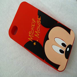 DIA HEADS UP MICKEY SILICONE CASE COVER FOR IPHONE 4 4G 4S Mobile phones