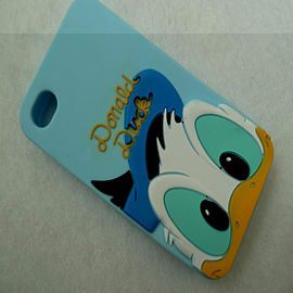 DIA HEADS UP DONALD DUCK SILICONE CASE COVER FOR IPHONE 4 4G 4S Mobile phones