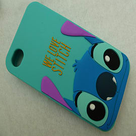 DIA HEADS UP STITCH SILICONE CASE COVER FOR IPHONE 4 4G 4S Mobile phones
