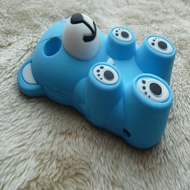 DIA® Light Blue 3D Lovely Silicone Bear for Blackberry Curve 8520 8530 9300 Mobile phones