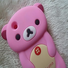 DIA Light Pink Bear case to fit Blackberry Curve 8520 8530 9300 Mobile phones