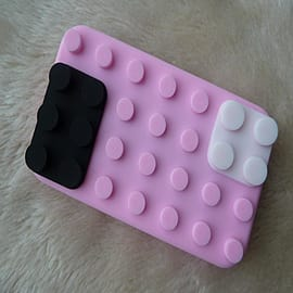 DIA Light Pink Building bricks silicone case Cover for iPhone 3 3g 3gs Mobile phones