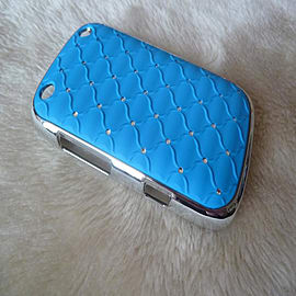 DIA® Light Blue Turquoise Aqua Chrome Effect Diamante case for Blackberry Curve 9220 9320 Mobile phones
