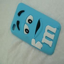 DIA Light Blue M & M silicone case cover for iPod Touch 4 4g 4th gen Audio