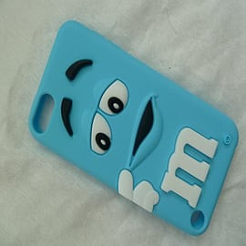 DIA Light Blue M & M silicone case cover for iPod Touch 5 5g 5th gen Audio
