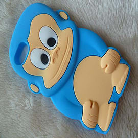 DIA Light Blue Turquoise Aqua Monkey silicone case Cover for iPod Touch 4 4th gen Audio