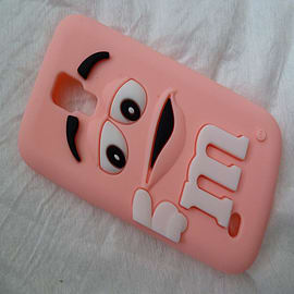 DIA LIGHT PINK M & M CHOCOLATE BEAN SILICONE CASE COVER FOR SAMSUNG GALAXY S4 MINI I9190 Mobile phones