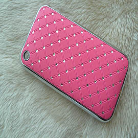 DIA® New hard Light Pink Diamante Chrome effect bling case for Apple iPhone 3 3g 3gs Mobile phones