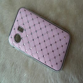 DIA® Light Pink Diamante Chrome effect hard case Cover for Samsung Galaxy Y S5360 Mobile phones