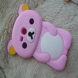 DIA Light Pink Cute Bear Silicone Case Cover to fit Samsung Galaxy S3 Mini i8190 Mobile phones