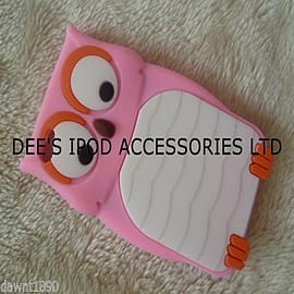 DIA Light Pink Owl Silicone Case Cover to fit iPod Touch 4 4th gen Audio