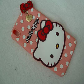 DIA LIGHT PINK HELLO KITTY DOTS SILICONE CASE COVER TO FIT SONY XPERIA Z1 Mobile phones