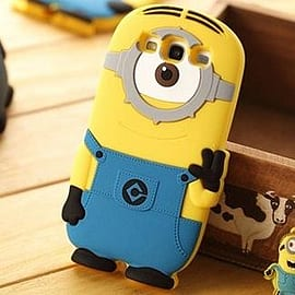 Minion Minions Soft Silicone Phone Case Cover for Samsung Galaxt S3 i9300 One Eye Mobile phones