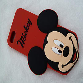 DIA MICKEY MOUSE SERIES 3 BIG FACE SILICONE CASE COVER FOR IPHONE 4 4G 4S Mobile phones