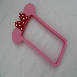 MINNIE MOUSE SILICONE BUMPER FOR IPHONE 4 4G 4S Mobile phones