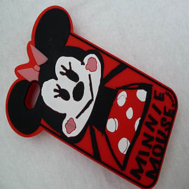 DIA CARTOON MINNIE MOUSE SILICONE CASE COVER FOR IPHONE 5 5G 5S Mobile phones